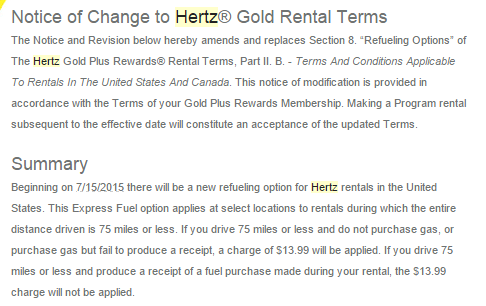 Hertz Refueling Policy