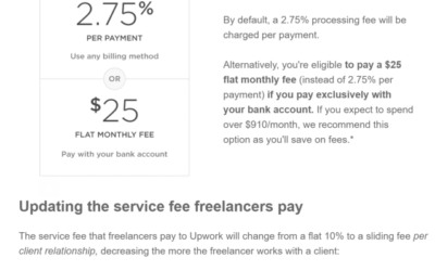 Upwork:  Tweaking Pricing in a Two-Sided Marketplace