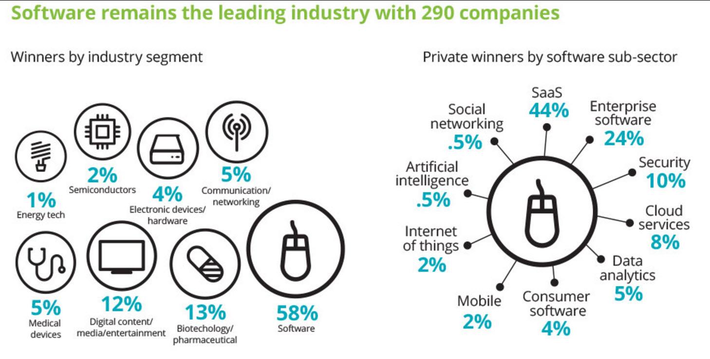 B2B SaaS Platforms in Deloitte's 2016 Technology Fast 500 Rankings